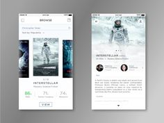 Simple Movie app UI that displays key information at a glance. Hope you guys like it. :)