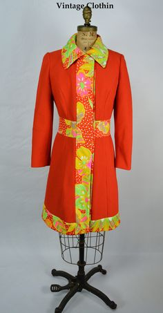 1960s Lilli Ann Coat, super groovy now available for online purchase. http://etsy.me/2Ci5WR4  #vintagedress #vintageclothes #vintageshop #vintagestore #vintageclothing #vintageclothin #vintage #60s  #vintageclothin.com #vintageshopping #retro #retrodress #retroclothes  #vintagefashion #Forsale #buyme #red #orange  #pink #yellow #green #LilliAnn #LilliAnnCoat #1960scoat #mod #modcoat #60scoat #60s #1960s #1960 #1960sLilliAnnCoat #redcoat