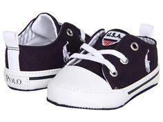 Ralph Lauren Layette Kids Chatem Low (Infant/Toddler) Navy Canvas - 6pm.com