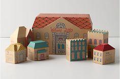3-D village calendar