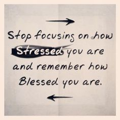 No stress, be blessed.