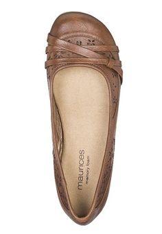 kimber comfort ballet flat in cognac - maurices.com