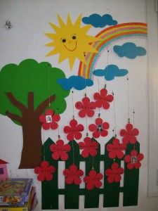 Cleurys Tapia E.'s media analytics. Classroom Wall Decor, Preschool Classroom Decor, Preschool Art Activities, School Board Decoration, Class Decoration, School Decorations, Art N Craft, Craft Stick Crafts, Paper Flowers Craft
