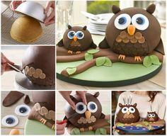 Creative Ideas - DIY Adorable Owl Cake