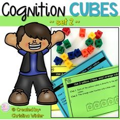 This set of 28 interactive logic puzzles will have kids begging for more! Easy to use, these brain teasers are a great math center that will keep kids engaged while thinking logically. These puzzles are perfect to help your 1st and 2nd grade students learn to persevere through challenging tasks.Save $ and buy the BUNDLE found here: Cognition Cubes BUNDLEIncluded in this resource:  are 28 different puzzles to be solved using Unifix cubes, teacher tips, a printable of colored cubes (if…