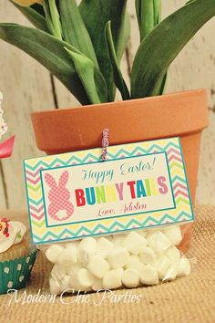 """""""Bunny Tails"""" Easter Treat Tag or bunny poop, or kisses etc Hoppy Easter, Easter Bunny, Easter Eggs, Holiday Treats, Holiday Fun, Easter Religious, Bunny Birthday, Bunny Tail, Easter Celebration"""