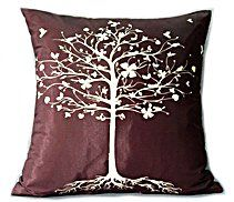 Throw Pillow Cover Brown Gold Paisley 16x16 Home Decor