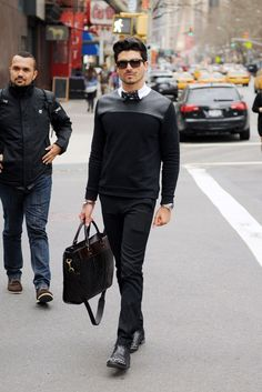 Recent street style in New Yorks Gallery District.