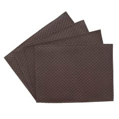 Benson Mills Allegro Faux Leather Placemat, Chocolate, Set of 4 by Benson Mills. $19.82. Faux leather placemat that features an elegant basket weave design. Wipe Clean. Perfect for everday use, or to impress your guests at the dinner table. Hand sewn stitching around edges. Available in multiple colors. An elegant and simple placemat that will casually dress up your dinner table. Perfect for everyday use, or to impress your dinner guests.