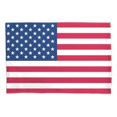 America flag American USA Pillowcase - independence day 4th of july holiday usa patriot fourth of july