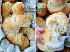 Croissants [Recipe] Homemade Butter Croissants - Recipe and tutorial!Homemade Butter Croissants - Recipe and tutorial! Butter Croissant, Croissant Recipe, Muffins, Homemade Butter, Bread And Pastries, Dinner Rolls, Love Food, Breakfast Recipes, Cooking Recipes