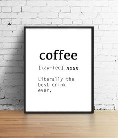 coffee printable wall art digital print by PosterBoutiqueArt