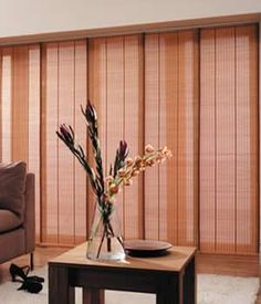 these panel track blinds by comfortex are a great addition to your home especially for sliding glass doors and large grand windows - Sliding Glass Door Window Treatments