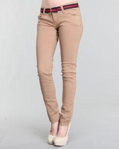 Skinny Leg khaki uniform pants for Zoe