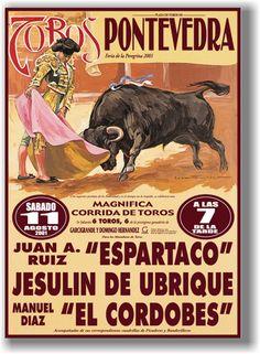 Pontevedra toros  http://www.torobull.com/images/carteles/carteles-toros-pontevedra-espartaco-jesulin-elcordobes.jpg