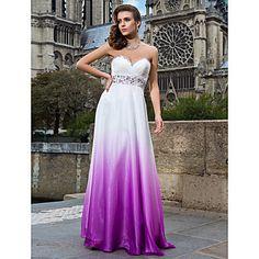 αγαπημένος θήκη / στήλη πάτωμα-μήκους σιφόν βράδυ / χορό φόρεμα – EUR € 164.99