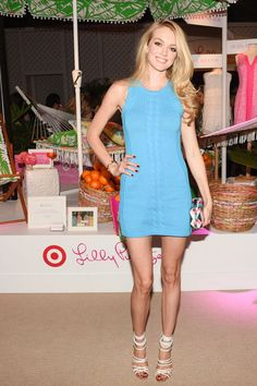Lindsay Ellingson at the Lilly Pulitzer for Target Launch. See the other celebrities on the mid-April party scene and what they wore.