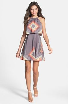Jessica Simpson Print Halter Dress available at #Nordstrom