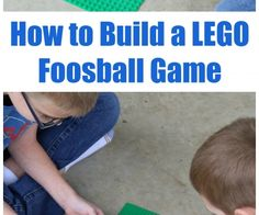 How to Build a LEGO Foosball Game