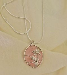 Pink Dragonfly Necklace by EclecticDiana on Etsy, $15.00