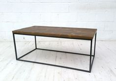 Vintage industrial coffee table, made from reclaimed timber and solid square bar. The timber has been rubbed down and waxed several times. Gold Accent Chair, Accent Chairs, Living Room Units, Living Rooms, High Table And Chairs, Restaurant Chairs For Sale, Reclaimed Timber, Kitchen Chairs, Patio Design