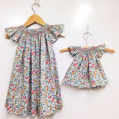 Penelope Dress is for the little girl who loves to wear dresses. With heirloom appeal and modern freshness.   Listing is for the child size dress only.  2y, 3y, 4y, 5y, 6y  Made in quintessential Liberty art fabric Tana Lawn.  Classic Liberty print creates beautifully timeless pieces.   Smocking wr