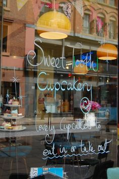 """Sweet Tooth Cupcakery and Milk Bar – ...a tiny shop adjoining Pop Boutique in the Northern Quarter (a second location's in Chorlton). They also serve up malts, shakes and floats. We love that they have named a cupcake after Weird Al Yankovic. 34-36 Oldham St, M1 1JN"""
