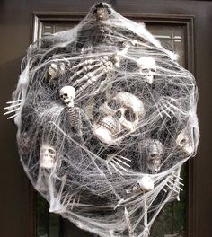 Sinister Halloween Wreath Skull Wreath Skull and by LuxeWreaths, $174.00