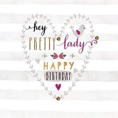Happy Birthday heart w bird Happy Birthday Flower, Happy Birthday Pictures, Happy Birthday Sister, Happy Birthday Messages, Happy Birthday Quotes, Happy Birthday Greetings, Happy Birthday Pretty Lady, Birthday Blessings, Birthday Wishes Quotes
