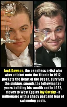 Coincidence? I think not! Di caprio titanic the great gatsby