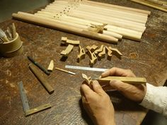 木製インディアンフルート製作中4  Wood Indian flute@Whistle workshop   ~バード作り~   七曜工房笛工房日記より