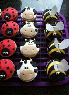 Animal cupcake toppers