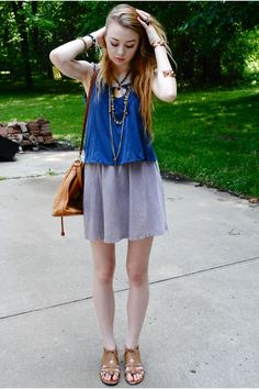 """Mbrigance"" wearing UO's dress, top and sandals #urbanoutfitters"