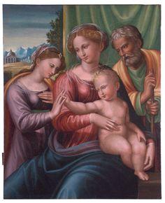 Innocenzo da Imola. Matrimonio mistico di Santa Caterina, olio su tavola, fine XVI secolo