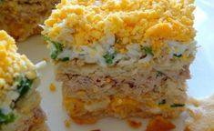 tuńczyk - Oryginalny smak Coleslaw, Polenta, Penne, Cheddar, Mashed Potatoes, Ethnic Recipes, Food, Whipped Potatoes, Cheddar Cheese