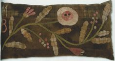 primitive wool applique patterns | primitive rug hooking,wool applique,hand dyed wool,punch needle,cross ...