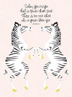 Zebras (Dr. Seuss) Art Print via Society6