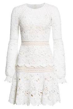 Alternate Image 4 - Oscar de la Renta Crochet Ruffle Dress