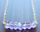 On Sale Amethyst Nugget Necklace - 14k Gold Fill