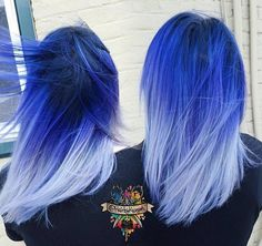 Blue ombré hair