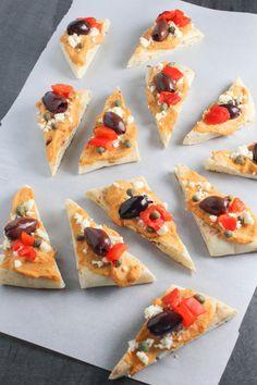 Bites of Bri   Mediterranean Hummus Naan Bites   http://bitesofbri.com