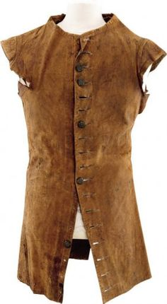 John Wilkes Booth's Sleeveless Leather Jerkin. This is a costume that belonged to his Father and was passed on to him.