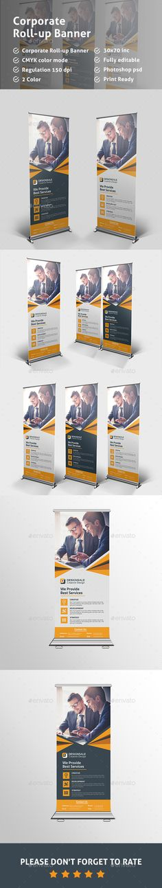 Corporate Roll-up Banner Template PSD. Download here: http://graphicriver.net/item/corporate-rollup-banner/14561980?ref=ksioks