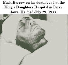 Buck Barrow, brother of the notorious Clyde Barrow. He was a fugitive known as a member of the Bonnie And Clyde Death, Bonnie Clyde, Wild West Outlaws, Famous Outlaws, Uncle Remus, Public Enemies, Bonnie Parker, Advertising History, Missing Persons