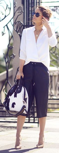 Black And White Chic Outfit by Annette Haga