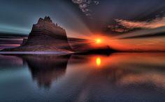 Landscape Amazing Sunset - Bing Bilder