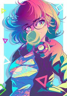 kawaii art by Berry Verrine Kawaii Anime Girl, Kawaii Art, Anime Art Girl, Manga Art, Aesthetic Art, Aesthetic Anime, Estilo Anime, Wow Art, Animes Wallpapers