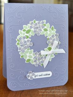 stampin up; wondrous wreath; Card Creations by Beth