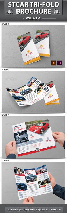 """Automobile Business Tri-fold Brochure 