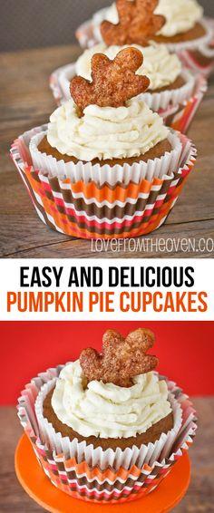 Easy And Delicious Pumpkin Pie Cupcakes